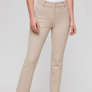 Aritzia Babaton-beige straight leg size four pants